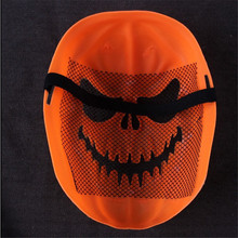 TTLIFE 2016 Halloween Funny Plastic Orange Pumpkin Head Skull Horror Masks Full Face
