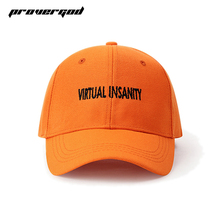 PROVERGOD High Street Baseball Cap Men Hip Hop Snapback Adjustable Letter Embroidery Casual Snapback Hat Orange(China)