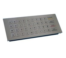 Custom 40 keys IP65 fully sealed USB/PS2/RS232 interface metal desktop keypad/keyboard with numbers,letters, function keys(China)
