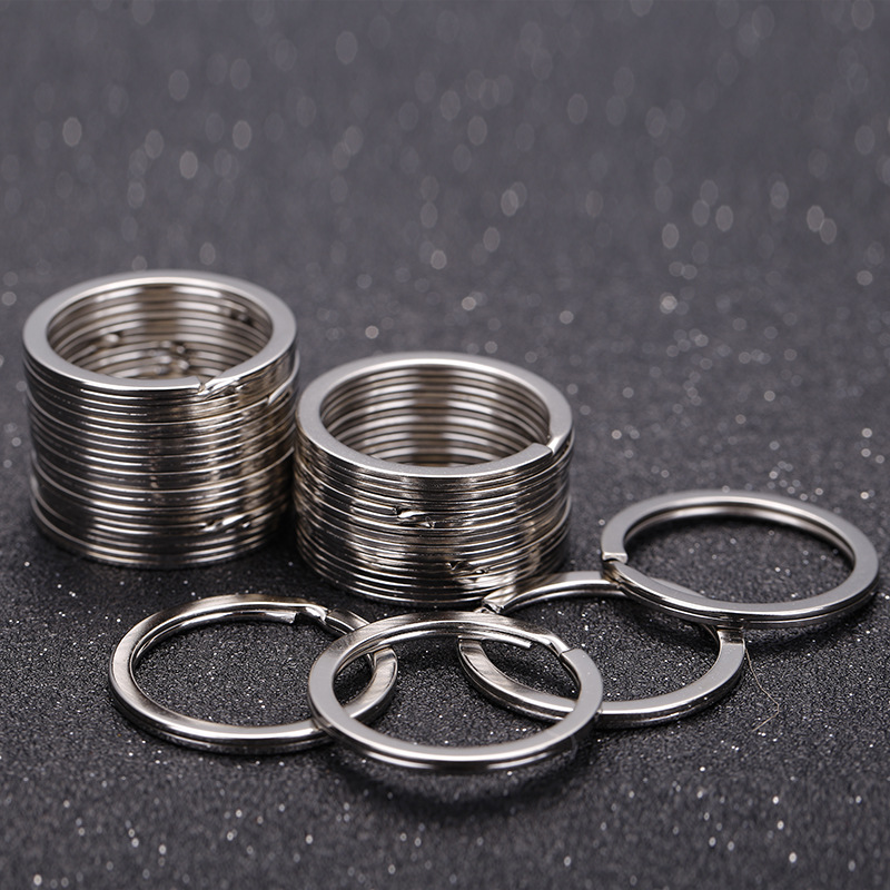 200pcs Mini Round Steel Metal Split Ring Keyring Key Chain Findings DIY 6mm//8mm