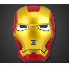 2017 Rushed Real Masquerade Masks 5units/lot Iron Man Mask High-grade Adult Superhero Costume Fancy Dress Eyes Glowing Kid Gift(China)