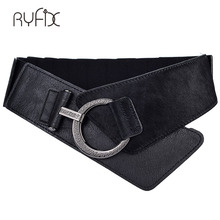 Buy 2017 New Women Ladies Elastic Belt Faux Leather Black Stretchy Wide Waistband Fashion Girls Autumn Winter Waist Belt BL216 for $12.38 in AliExpress store