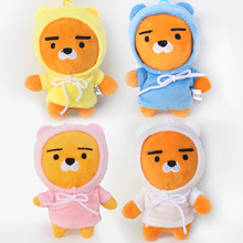 Kakao Friends Ryan Plush Toys Pendants Dolls Korean Fashion Cartoon Briqnuedos 10cm 4pcs