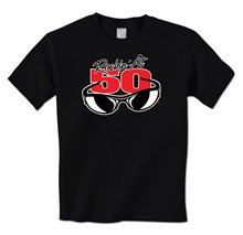 Rockin' At 50 Cool Sunglasses Happy 50th Birthday Fifty Mens T-Shirt100% Cotton Print Mens Summer O-Neck