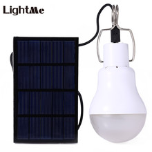 2017 New Hot 15W LED Bulb Portable Solar Panel Light Solar Energy Garden Lamp LED Lighting Outdoor Camping Hiking Bulb 130LM(China)