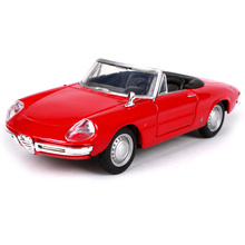 Maisto Bburago 1:32 ALFA ROMEO SPIDER Vintage car Retro Classic Car Diecast Model Car Toy New In Box Free Shipping 43211
