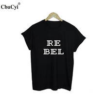 Buy Rebel T-Shirt Funny Punk Rock Street Hipster Tee Shirt Femme Black White T Shirt Fashion Harajuku Women Clothing for $11.00 in AliExpress store