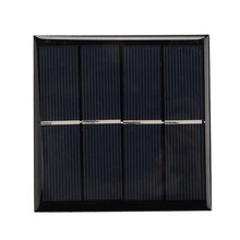 1W 2V Solar Panel Charger Board for Rechargeable 1.2V AA batteries Power Bank Pack Black Portable New