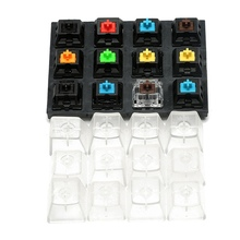 12 Keycaps Translucent Clear Keycaps Acrylic Caps Mechanical Keyboard Switches Tester Kit For Cherry MX Sampler Testing Tool