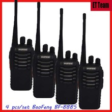 4 pcs/set Cheap Walkie Talkie 888s BaoFeng BF-888S UHF 400-470MHz Interphone Transceiver Two-Way PMR Radio Handled Intercom