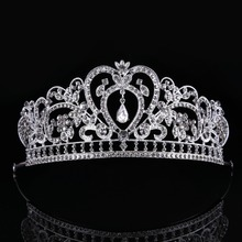 Luxury Elegant Crystal Bridal Crown Woman Tiaras Hair Jewelry Ornaments Hairwear Bride Wedding Hair Accessories CY161117-134