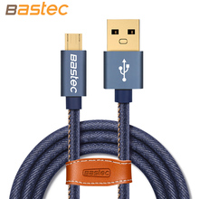 Bastec Cowboy Braided Gold-plated Plug Fast Charge & Data Cable Micro USB Cable For Samsung / Sony / Xiaomi / Huawei USB Charger