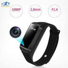 HFSECURITY 2.8mm Mini Lens 1080P HD TF Card Camera DC5V Video Recorder Micro USB Rechargeable Wrist Watch Photo Cameras(China)