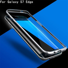 Cases S7edge Original Ginmic Aluminum Metal Bumper For Samsung Galaxy S7 Edge Case Column Shape Frame With Metal Button