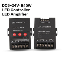 45A LED RGB Amplifier/Controller DC5-24V 3*15A for RGB LED Strip Power Repeater Console Controller