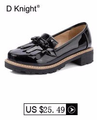 Oxford Shoes For Women Summer Tassel Bow Pumps Patent Leather Platform Creepers Shoes Woman Slip On Thick High Heels Loafers E72