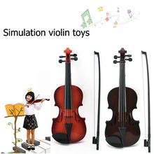 2017 New Simulation Violin Toys Musical Instruments Violin Can Be Fine Tune Can Play Gift Children's toy(China)