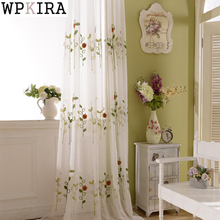 Rustic Fresh Yarn Three-dimensional Embroidered Cotton Curtain Window Screening Curtains Lliving Room 121&20