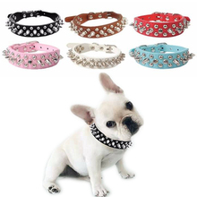 Buy Pet Collars Pu Leather XXS-L Adjustable Leather Rivet Spiked Studded Pet Puppy Dog Collar Neck Strap Cool Pet Collars D16 for $1.86 in AliExpress store