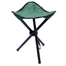 1PC Outdoor Fishing Portable Folding Chairs Picnic Beach Three Feet Seats Tackle(China)
