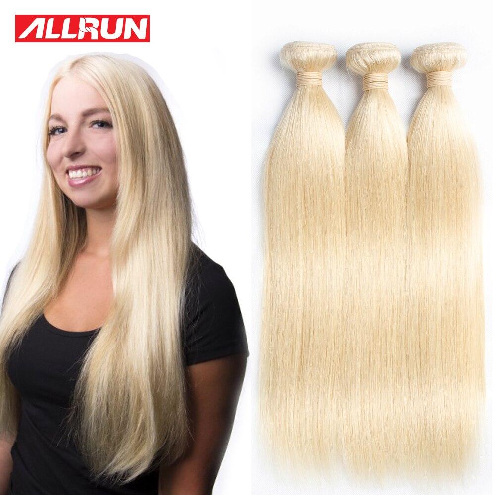 10 Pcs/Lot Malaysian Virgin Hair Straight Blonde Weave Allrun Human Hair Extensions Blonde Hair Malaysian Straight Hair<br><br>Aliexpress