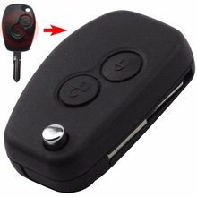 2 Button Remote Modified Folding  Flip Key Shell For Renault Megane Modus Espace Car Key Fob Case Key Blank