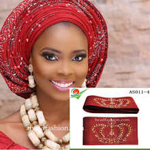 AS011Unique Aso oke Multi-colored with stones beauty african headtie gele 8.6m one pieces/pack aso oke for women.Free shipping.(China)