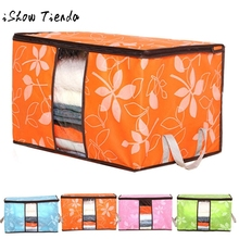 ISHOWTIENDA Non-Woven Organizador Bed Underwear Closet Storage Box Clothes Divider Organiser Bag Holder Folding Closet Organizer(China)