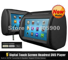 2x9 inch HD Touch Screen Headrest DVD player for Benz BMW Audi Lexus Renault Volvo Pegueot Chevrolet Ford Buick Toyota etc(China)