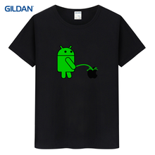 Android Robot Apple Logo Ringer 2017 T-Shirt Quotes Homme Cool T Shirt Design Cotton Getee Shirt Made Camisa