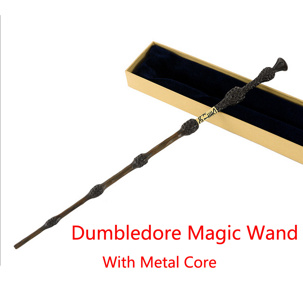 New Metal Core Albus Dumbledore Magic Wand/Harry Potter  Magical Wands/ High Quality Gift Box Packing without LED light<br><br>Aliexpress
