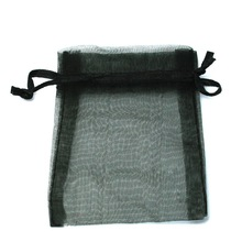 Wholesale Organza Bag 10x15cm Wedding Jewelry Packaging Pouches Nice Gift Bags Black 10pcs/lot(China)