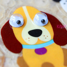 High Quality Emoji Reward Kid Children Toys Cute Canine Animals Pet Dogs Puppy Doggie Poodle Scrapbooking Googly Eyes Stickers(China)