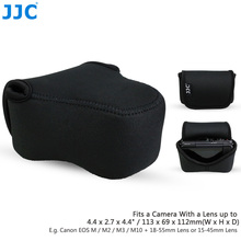 JJC Black Mirrorless Camera Bag 113mm(W) x 69mm(H) x 112mm(D) Small Pouch Soft Case for Canon Sony Olympus Fujifilm(China)