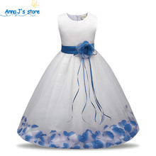 Qz-574 Collection of new flower dresses with lace for little girls Birthday wedding ceremonial clothes girls dress-tutu for girl(China)