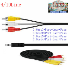 AV cable 1 Year CCcams for Satellite Receiver 4/6/8/10 Clines WIFI FULL HD DVB-S2 Support Cccams via USB Wifi dongle