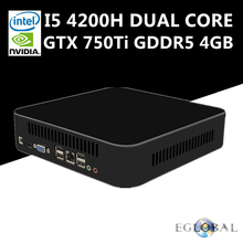 Eglobal Powerful Nuc Mini PC Gaming PC Intel Core i5 4200H Max 3.4GHz Nvidia GTX 750Ti GDDR5 4GB Ram HDMI VGA AC Wifi 4K HD HTPC(China)