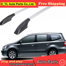 D_YL car styling for Nissan Geniss car roof rack aluminum alloy luggage rack punch Free 1.7 meters(China)