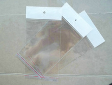 9*20cm Clear Self-adhesive Seal Plastic Retail Packaging Bags OPP Poly Bag Hang Hole for iphone 4 4g 4s case(China)