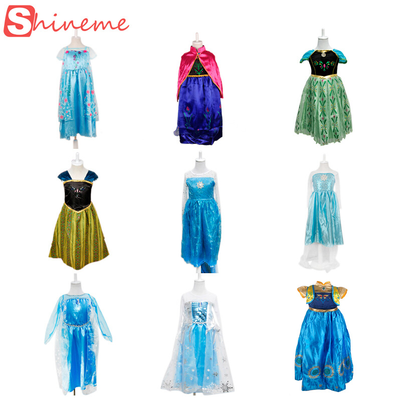 9 styles Halloween baby girls Anna Elsa princess party dress kids birthday gift cartoon cosplay movle dresses for children<br><br>Aliexpress