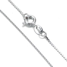 XL0061i New Arrivals Mixed Styles Silver Plated Link Chain Necklace no charms within 17inch For women/men jewelry(China)