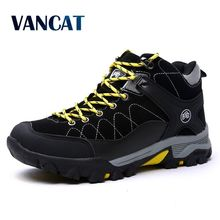 Buy VANCAT Plus Size 39-45 Winter Fur Snow Men Boots Autumn Non-Slip Rubber Sole Men Ankle Boots Waterproof Men Shoes Footwear for $26.87 in AliExpress store