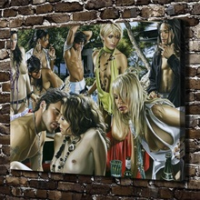 A2415 Sexy Naked Girl Boy Art Figures Scenery.HD Canvas Print Home decoration Living Room bedroom Wall pictures Art painting