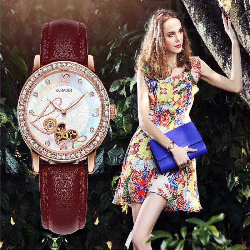 OUBAOER Ladies Mechanical Wrist Watch 2017 Dress Automatic Watch Women Watches Female Clock Montre Femme Relogio Feminino saat<br>
