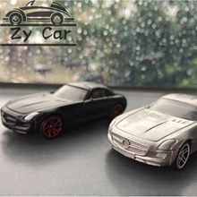 1:64. Benz sls Alloy metal car model kids toys Christmas gift birthday present Pocket car Sports car collect decoration(China)