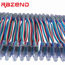 Promotion! 50pcs WS2801 RGB led module Diffused Addressable pixel nodes 12mm DC5V Waterproof IP68 Wholesale