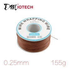 0.25mm 305M 30AWG Cable Reel Brown PVC Coated Tin Plated Copper Cable Wrapping Wire