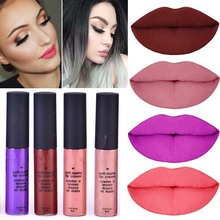 2017 New Red Lips Velvet Long-lasting Lipgloss Matte Lips Tinting High Pigments Waterproof Lips Fluid Matte Lipstick Cosmetics(China)