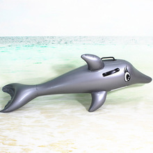 135CM Inflatable Dolphin Pool Float Pool Toys Swimming Ring Inflatable Float Toy Pool Inflatables Toys Kids Inflatable Floating(China)