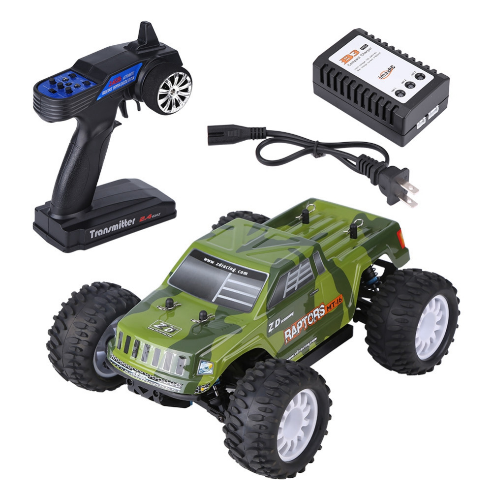 2.4GHz RC Car Remote Control Four-Wheel Drive Brushless Car 1:16 RC Model Toy Anti-collision High Speed RC Racing Car Trunk Toy(China)